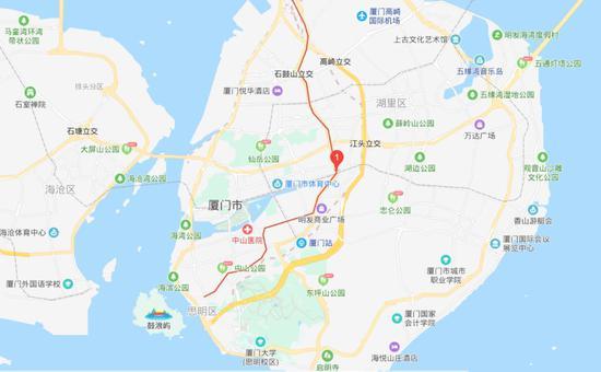 厦门地铁2号线吕厝站地理位置 图片来源:百度地图截图