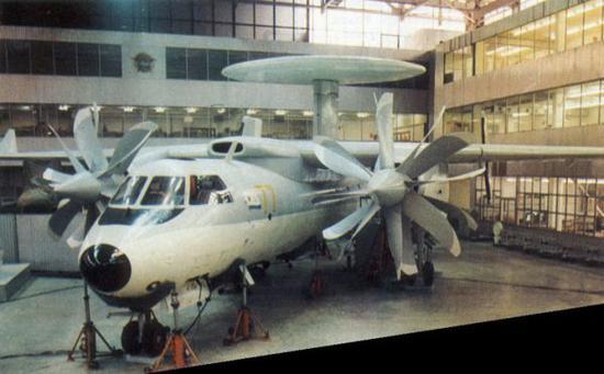 原料图片:雅克-44舰载预警机全尺寸模型。(图片来源于网络)