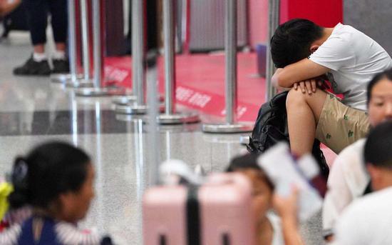机场旅客。新京报记者陶冉 摄