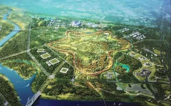 城市绿心规划效果图