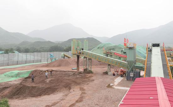 8月6日,北京市海淀区苏家坨建筑垃圾资源化处置现场。新京报记者 陈婉婷 摄