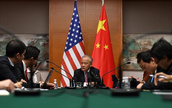 2017年10月30日,崔天凯大使就美国总统特朗普访华接受中外媒体集体采访。