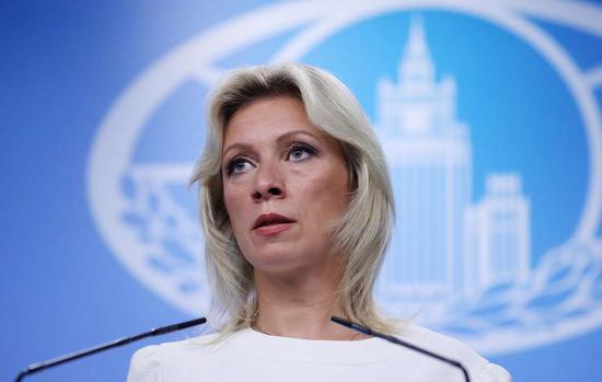图说:俄罗斯外交部发言人扎哈罗娃