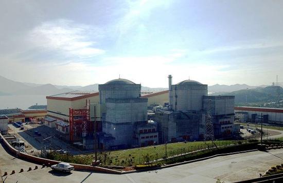资料图片:大亚湾核电站核岛全景。新华社发