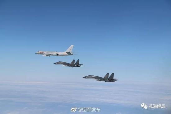 (轰-6K、歼-11训练)