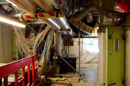 位于威斯敏斯特宫地下100间厂房中的一间。(图片来源:《卫报》)