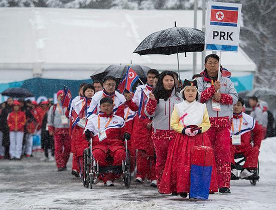 韩国决定援助朝鲜代表团1.3亿韩元参加平昌冬残奥朝鲜韩元代表团