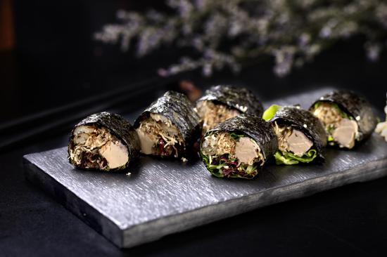无米红酒鹅肝鳗鱼卷