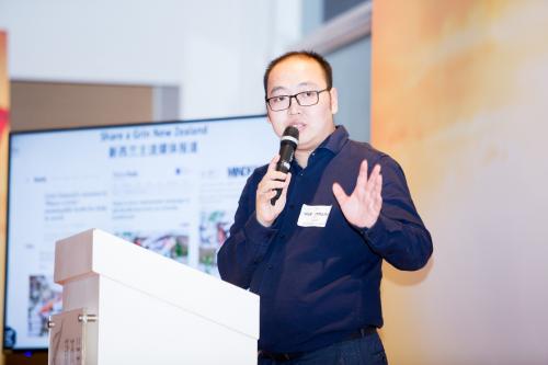 新西兰Grin专业口腔护理品牌中国区负责人刘藜鹏现场发言