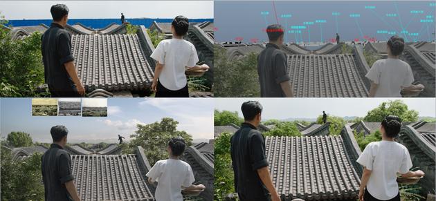 《邪不壓正》北平城屋頂的替換過程。