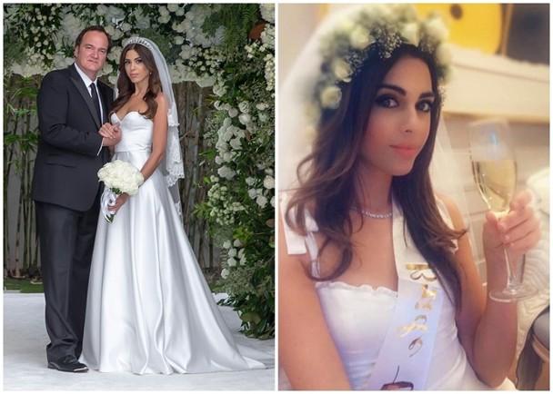 55岁的益莱坞鬼才导演昆汀·塔伦蒂诺(Quentin Tarantino)与年纪幼20岁的以色列嫩模单身妻Daniella Pick美国时间昨日于洛杉矶结婚。
