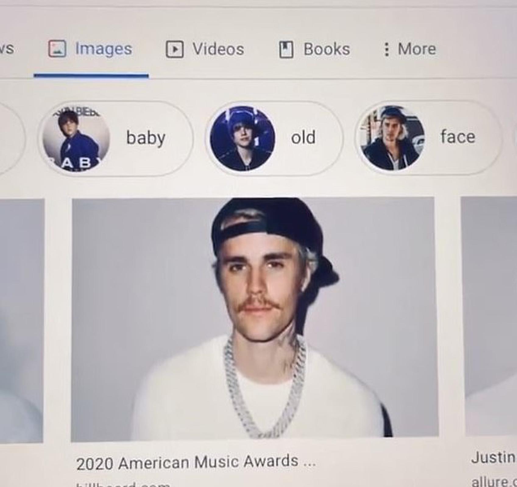 比伯吐槽网站算法:搜索自己显示的一张照片太丑