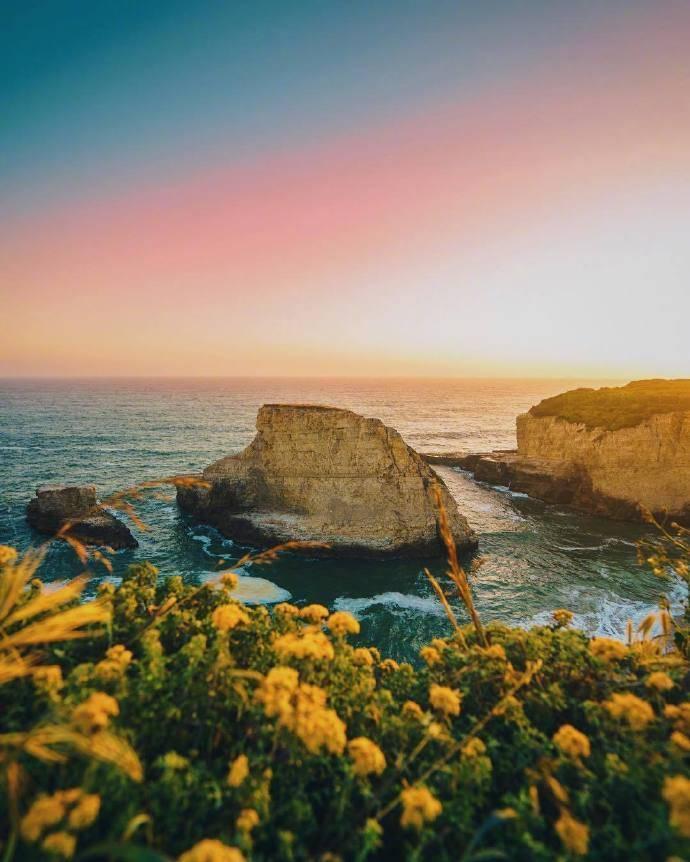 海边黄昏,美就一个字。 #户外旅行# 