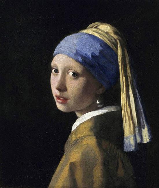 少女漏b艺术_维米尔《戴珍珠耳环的少女》布面油画