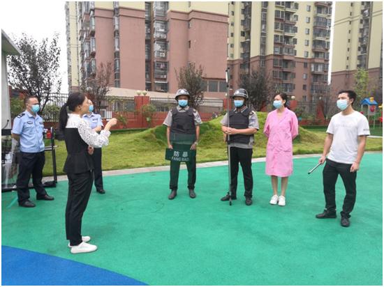 广安市广安区凤凰幼儿园开展2021年秋季反恐防暴应急演练活动