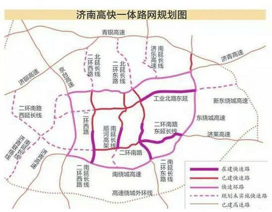 王文濤王忠林察看二環路快速路網建設圖片