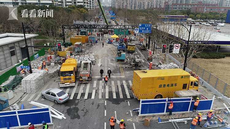 上海轨交18号线施工现局部地面沉降 已基本控制