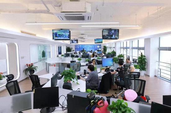 """普陀区融媒体中心,实现了区域媒体平台""""全覆盖""""。本文图均为 普陀区政府 供图"""