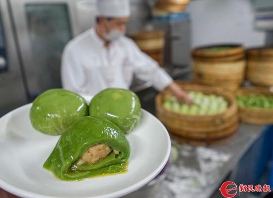 沪上咸味青团成老字号当家花旦 新零售加入节令市场
