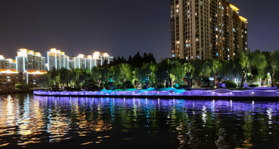 长宁苏州河沿岸景观照明正在提升 夜色将更加迷人