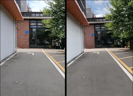(左:OPPO Reno4 SE,右:其他手机)