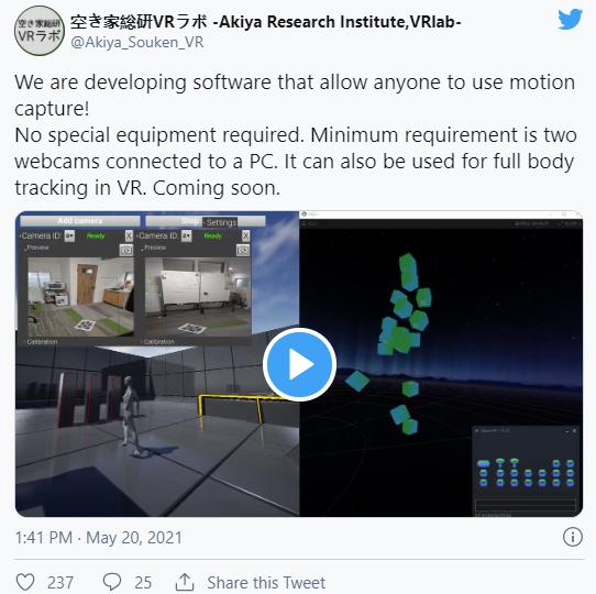 MocapForAll:利用手机和摄像头打造的VR追踪器