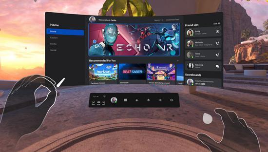 Oculus Quest v25更新:增加Messenger、守护者改进、蓝牙鼠标等功能