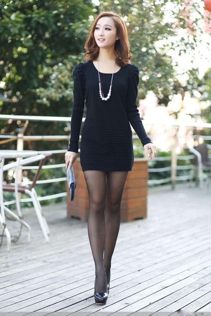冬季黑色包臀裙搭配_夏天到,黑丝袜搭配包臀裙,清新时尚总有一款适合你