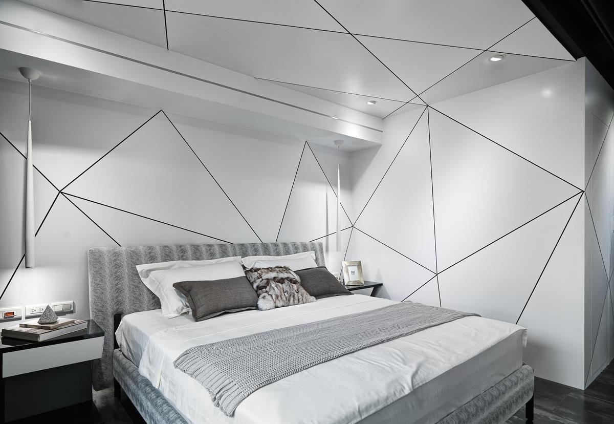 科技感臥室設計 效果圖