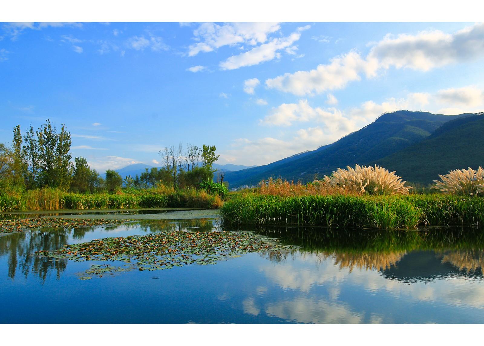 西昌邛海國家濕地公園,自然環境優越,風景如畫.