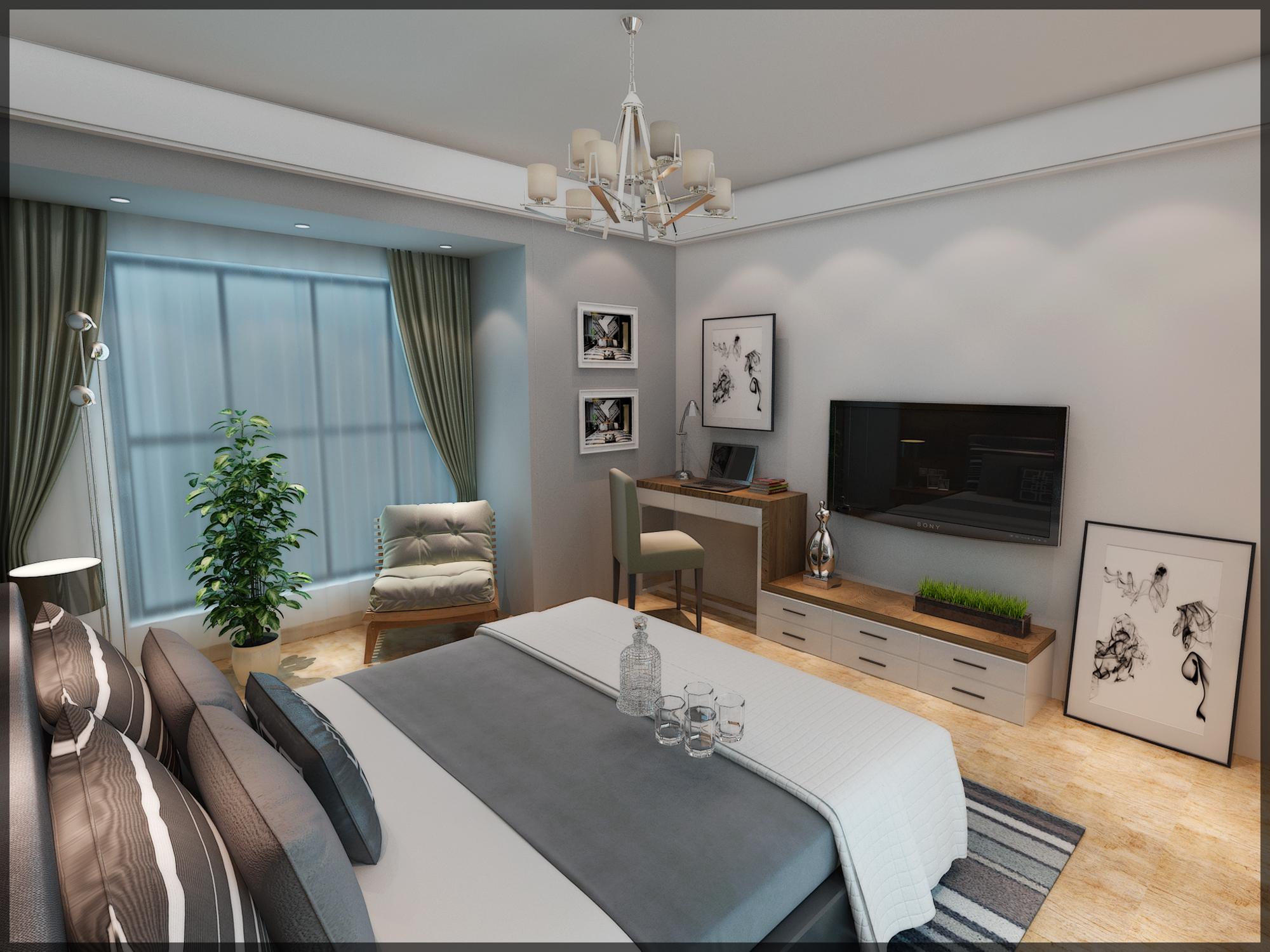 諾丁山的夢,合肥融僑觀邸婚房現代風格+loft