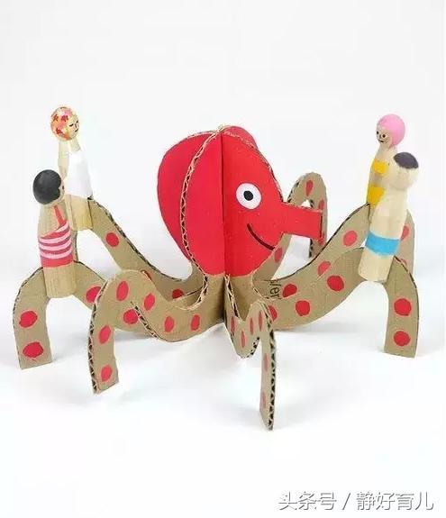 手工制作小动物_6款幼儿海洋动物手工制作,家长请收好!用废纸壳让宝宝变小能手