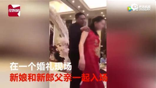 视频公公日媳妇_江苏强吻儿媳公公做出回应: 是假吻新娘表演动作,符合