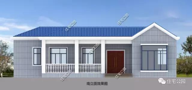 第六套:带火炕,14x20米平层别墅 占地尺寸:20.4米*14.2米 占地面积:257平方米 建筑面积:249平方米 总 高 度:6.67米 建筑情况:共设3室1火炕房2厅1厨2卫1储藏室1柴火房1门斗 这是一套针对北方农村地区所设计的户型,北方地区因气候寒冷,多以平层住宅为主,可有效保温;内设火炕,贴合农村生活居住习惯。