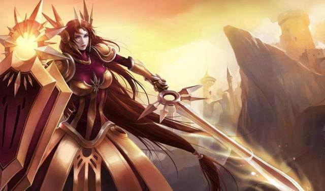 雷欧娜_被定身就别想动啦,英雄联盟女英雄之曙光女神蕾欧娜
