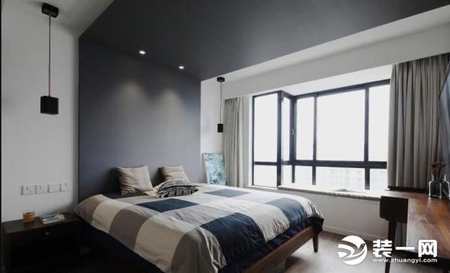 145平米北欧风格装修实景图 水泥背景墙气质冷艳!