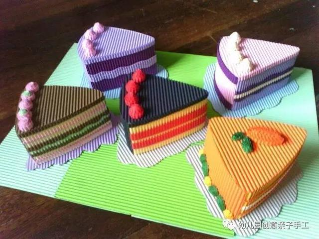 幼儿园亲子手工之瓦楞纸创意教程,寿司粽子帽子等新奇