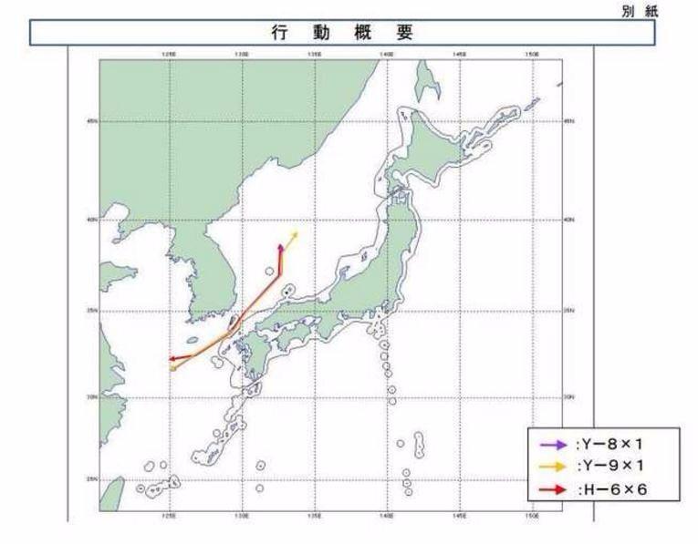 中国空军轰6K轰炸机再次飞越对马海峡:日本海不是日本的海!