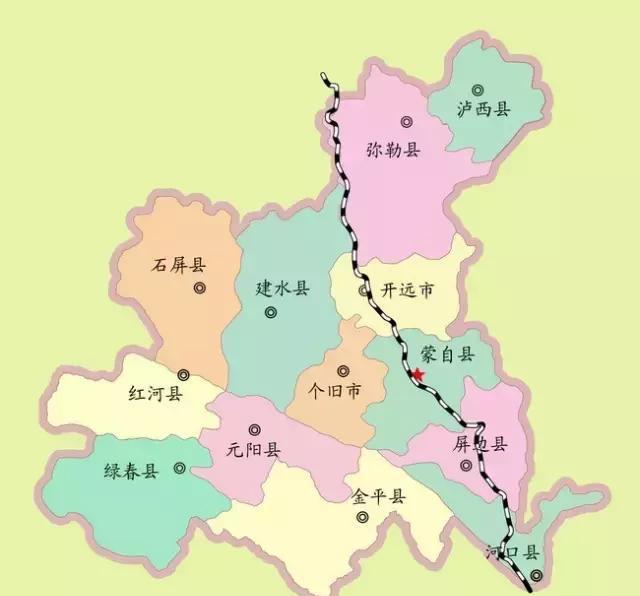 个旧市大屯镇邮编_云南个旧地图 -微博生活网