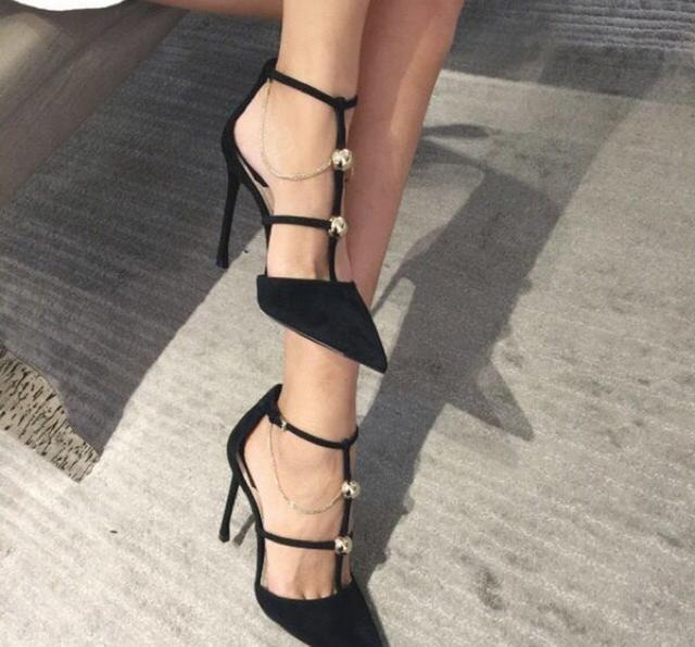 性感黑色尖头高跟鞋, 轻松不累脚