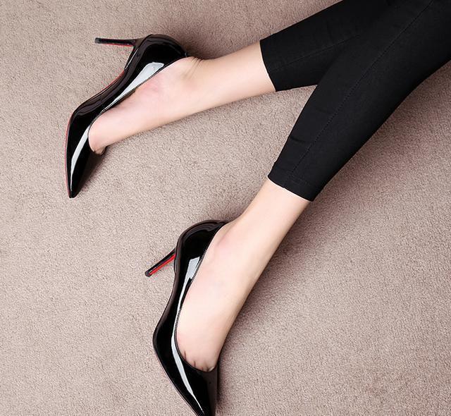 小细跟真皮高跟鞋, 百搭个性显腿长, 超有女人味