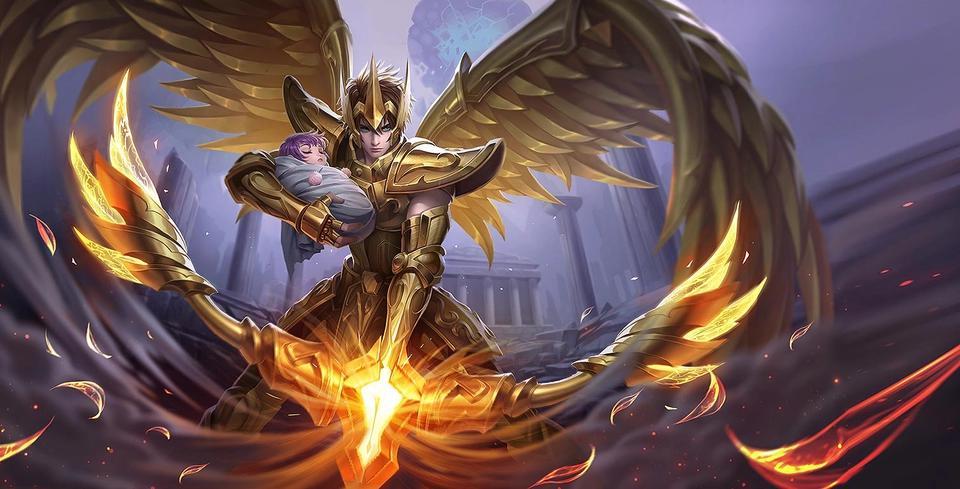 王者榮耀:后羿黃金圣斗士皮膚曝光!圖片