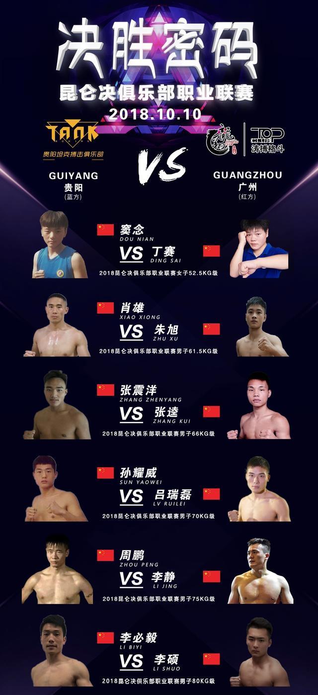 2018年10月10日昆仑决·决胜密码 – 直播[视频] 坦克搏击vs涛搏格斗