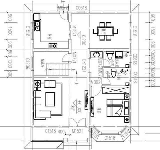 25萬占地90平方米3廳5臥帶豪華套間三層農村房屋設計圖圖片