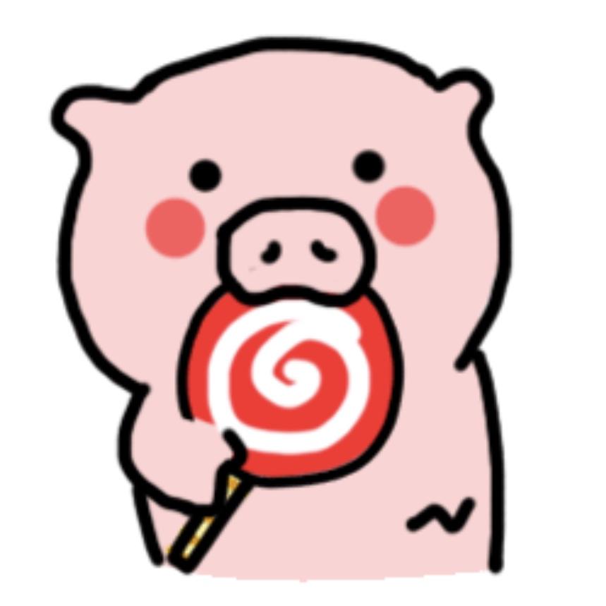 屁屁猪头像_一坨粉猪小头像 超级萌!微信也有他的系列表情包,搜一坨粉猪就有了!