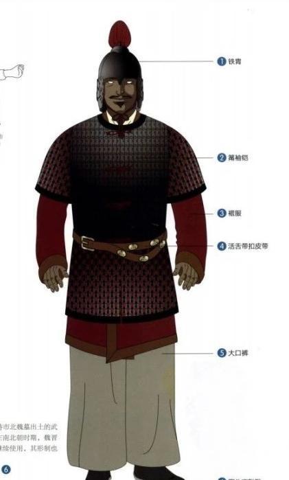 礹c.�c.�fh_南北朝时期铁胄,筩袖铠