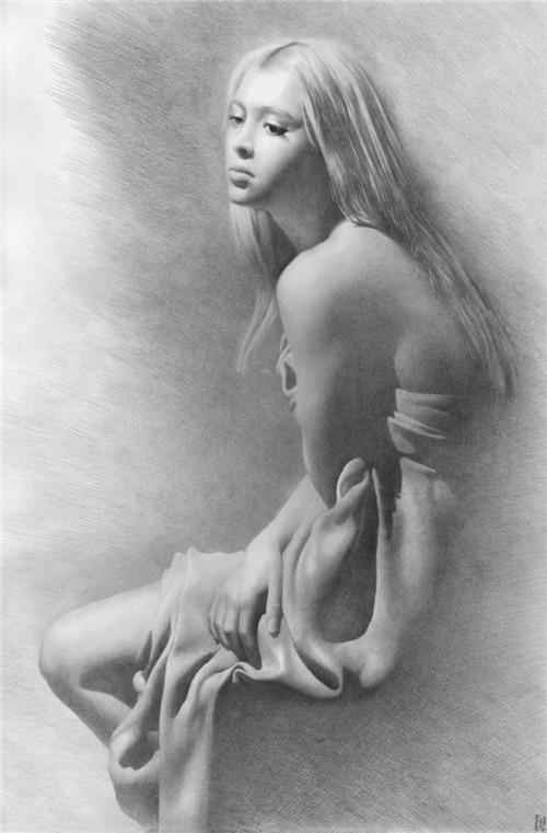 欧美人体欣尝女大胆_一组国外美女人体素描欣赏,太性感!