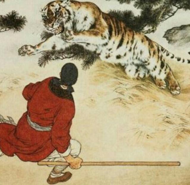 水浒传描述人物动作最精彩片段景阳冈武松打虎