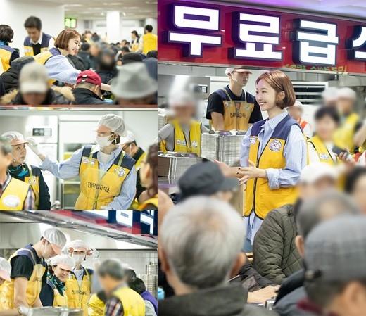 高俊熙和母亲一起参加送餐服务 暖心的交流笑容非常满足