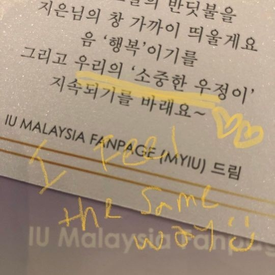 IU在马来西亚的纪念照可爱的丸子头